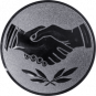 Emblem 50 mm Hände, silber