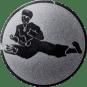 Emblem 50 mm Karatekämpfer, silber