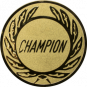 Emblem 50 mm Kranz CHAMPION, gold