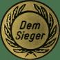 Emblem 50 mm Kranz Dem Sieger, gold