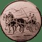 Emblem 50 mm Kutsche, bronze