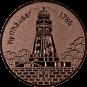 Emblem 50 mm Kyffhäuser, bronze