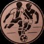 Emblem 50mm 2 Fußballer, bronze