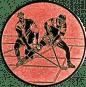 Emblem 50mm 2 Hokeyspieler, bronze