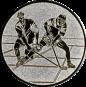 Emblem 50mm 2 Hokeyspieler, silber