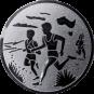 Emblem 50mm 2 Laeufer am See, silber
