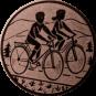 Emblem 50mm 2 Radfahrer, bronze