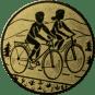 Emblem 50mm 2 Radfahrer, gold