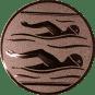 Emblem 25mm 2 Schwimmer, bronze
