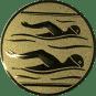 Emblem 25mm 2 Schwimmer, gold