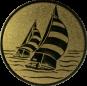 Emblem 25mm 2 Segelboote, gold