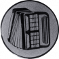 Emblem 50mm Akkordeon 2, silber