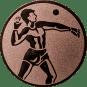 Emblem 50mm Ballwerfer, bronze