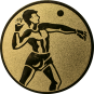 Emblem 50mm Ballwerfer, gold
