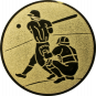 Emblem 50mm Baseball 2 Spieler, gold