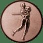 Emblem 50mm Baseball Spieler, bronze