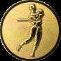 Emblem 50mm Baseball Spieler, 3D gold