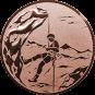 Emblem 50mm Bergsteiger, bronze