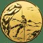 Emblem 25mm Bergsteiger, gold