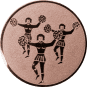 Emblem 50mm Cheerleader, bronze