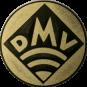 Emblem 50mm DMV, gold