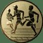 Emblem 50mm Drei Laeufer, gold