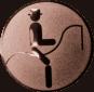 Emblem 50mm Dressurreiter Symbol, bronze