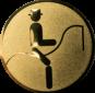 Emblem 50mm Dressurreiter Symbol, gold