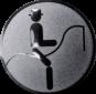 Emblem 50mm Dressurreiter Symbol, silber