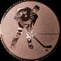 Emblem 50mm Eishockeyspieler, bronze