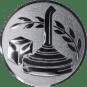 Emblem 50mm Eisstockschießen 1, silber