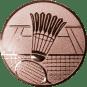 Emblem 50mm Federball m. Netz, bronze
