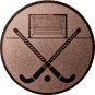 Emblem 50mm Feldhockey, bronze