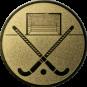 Emblem 50mm Feldhockey, gold