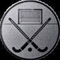 Emblem 50mm Feldhockey, silber