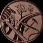 Emblem 50mm Feuerwehreisatz, bronze
