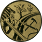 Emblem 50mm Feuerwehreisatz, gold
