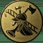 Emblem 50mm Feuerwehrhelm, gold
