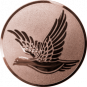 Emblem 50mm fliegende Taube, bronze
