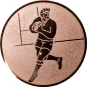 Emblem 50mm Footballer, bronze