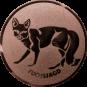 Emblem 50mm Fuchsjagd, bronze