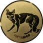 Emblem 50mm Fuchsjagd, gold