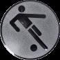 Emblem 50mm Fußballer Symbol, silber