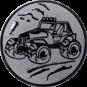 Emblem 50mm Gelände-Buggy, silber