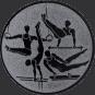 Emblem 50mm Geräteturner, silber