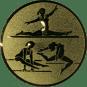 Emblem 50mm Geräteturnerin, gold