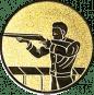 Emblem 25mm Gewehrschütze links, gold schießen