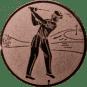 Emblem 50mm Golfer, bronze