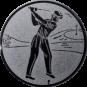 Emblem 50mm Golfer, silber