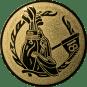 Emblem 50mm Golftasche, gold